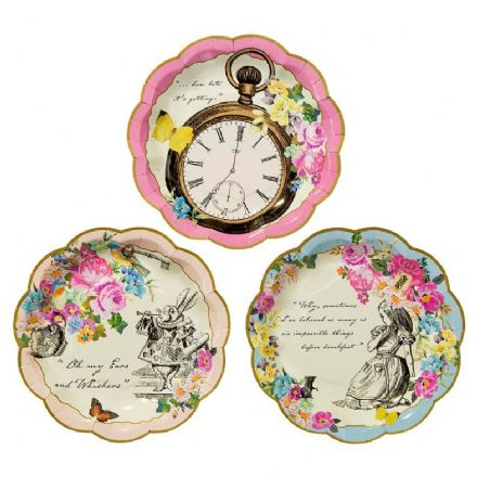 Alice in Wonderland, Truly Alice Paper Plates - pack of 12